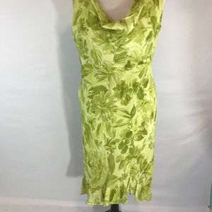 Donna Ricco NY Green Floral Sleeveless Dress